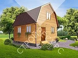 эскиз проекта деревянного дома